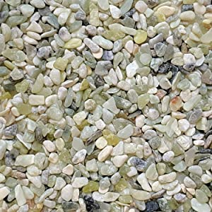 Midwest Hearth Natural Decorative Jade Bean Pebbles 1/5