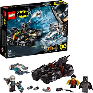 LEGO Super Heroes - Batalla en la Batmoto contra Mr. Freeze Juguete de construcción de Aventuras de superhéroes, incluye Motocicleta de Batman y Figura de un Supervillano, Novedad 2019 (76118)