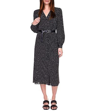 MICHAEL Michael Kors Logo Dot Kate Dress (Black/White) Women