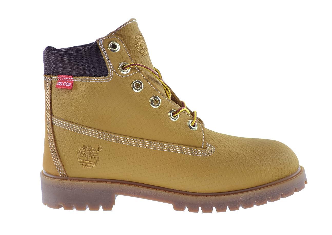 関連付ける凍るクレタ[ティンバーランド] 大きな子供6インチプレミアムWeather Proof Boot Wheat/ヌバック