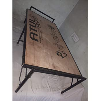 AASHI ENTERPRISES Plywood Folding Bed with Metal Frame (Single Size, Black)