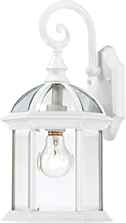 Trans Globe Lighting Trans Globe Imports 4181 WH Transitional One Light Wall Lantern from Wentworth Collection in White Finish, 8.00 inches