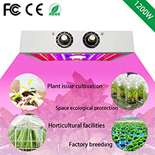 LED Plant Growing Light, 1200W Double Chips Full Spectrum COB -Plant Grow Lamp with Bloom and Veg Switch for Greenhouse Indoor Hydroponic Plants Flower