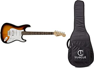 Fender Bullet-HSS-BSB 0370005532 Right Handed Squier Bullet Strat with Tremolo (Brown Sunburst) + True Cult Acoustic Guita...