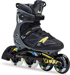K2 Skate Men's VO2 100 X Pro Inline Skate, Black Gray Yellow