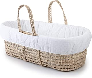 Tadpoles Moses Basket & Bedding Set, Eyelet, White, One-Size