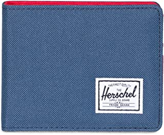 Men's Roy RFID Wallet, Navy/Red, One Size