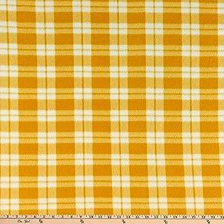 Fabric Merchants Fleece Plaid Yellow/Ivory