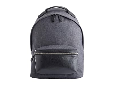 ROYCE New York 13 Leather Mixed Media Laptop Backpack