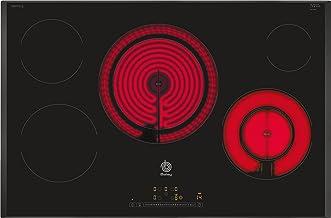 Balay, 3EB785LQ - Placa Vitrocerámica, 80 cm, 190,4 Wh/kg, 5 Zonas + Zona 28cm, Control Táctil de fácil uso con 17 niveles de cocción, Color Negro, Programación de tiempo de cocción