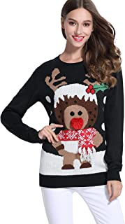 *daisysboutique****** Women's Christmas Cute Reindeer Knitted Sweater Girl Pullover