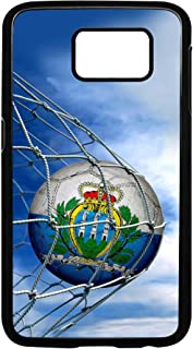 Case for Samsung Galaxy S7 with Flag of San Marino - Soccer Ball in Net - Durable Rigid Plastic