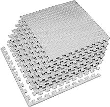 Velotas 1/2 Inch Interlocking EVA Foam Personal Fitness Mat, Diamond Plate Exercise Mats..