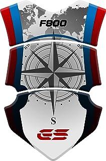 PARASERBATOIO ADESIVO R 1200 RESINATO EFFETTO 3D compatibile con BMW R1200 GS 2013-2019 White//Red