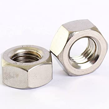 4pcs M10 x 1.25 mm Pitch Stainless Steel Left Hand Thread Hex Nut Metric Thread