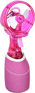 冷感ミストファン クイッククール(ピンク)熱中症・暑さ対策、予防 | 携帯ミスト | 柔らかファンで安全&風量しっかり DOCQC5PK...