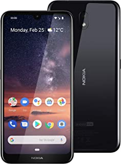 "Nokia 3.2 Android One Smartphone (Official Australian Version) 2019 4G Unlocked Mobile Phone with 2-Day Battery, 6.26"" Screen and Face Unlock, 16GB, Black"