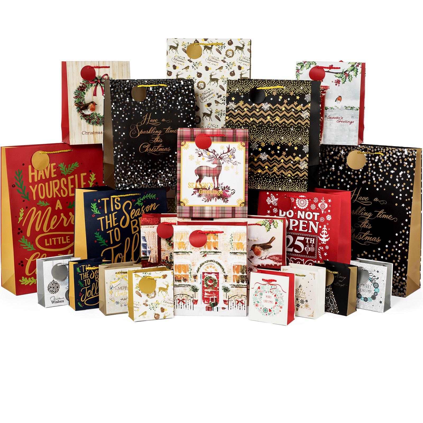 24 Count Christmas Gift Bags Bulk Set Includes 4 Jumbo 6 Large 6 Medium 8 Small  sc 1 st  Amazon.com & Bulk Christmas Gifts: Amazon.com