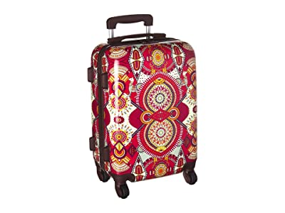 Sakroots Artist Circle Hard Sided 21 Spinner Suitcase (Ruby Wanderlust) Luggage