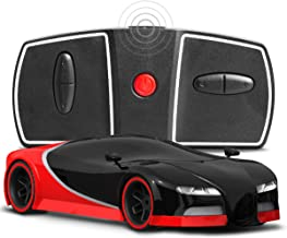 SHARPER IMAGE Miniature Toy RC Italia Sports Car 1:50 Scale Luxury Cars-Inspired Design with LED Headlights & Brake Lights, Red and Black, Long Range 2.4 GHz Frequency Remote Control