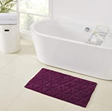 "Refinery29 Jagger Diamond Tufted Cotton Bath Rug, 21"" x 34"", Purple"