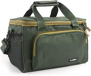 SupsShop Waterproof Fishing Tackle Bag Portable Lures Kit Carrier Bag Slide Waist Canvas Packs Shoulder Bag Outdoor Multifunctional Large Capacity Storage Bag for Fishing Hunting Hiking