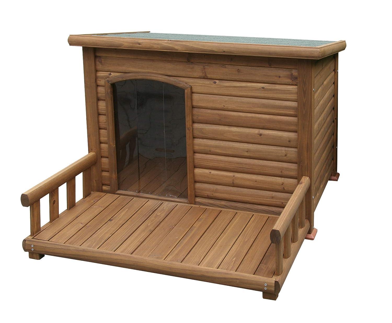Kerbl Hundehütte mit Terrasse, 20 x 20 x 20 cm