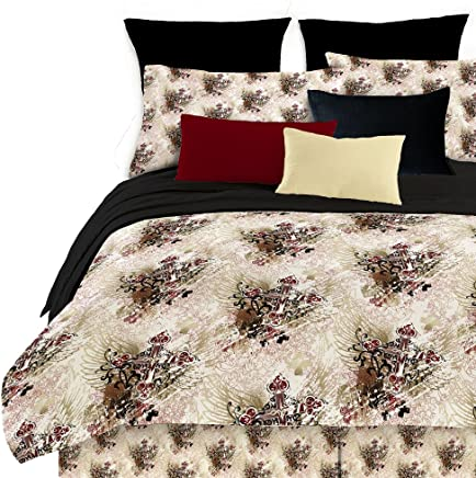 Veratex Street Revival 100% Polyester Winged Cross 4-Piece Comforter Set,  Twin Size,  Multicolor
