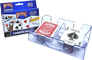 Canasta Games Playing Cards With 2 Deck Rotating Card Tray Holder Set