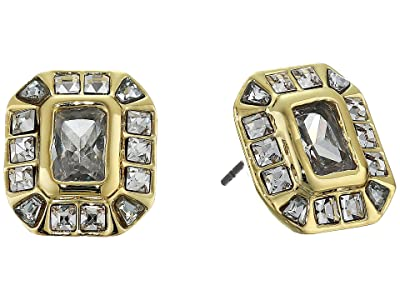 Vince Camuto Asher Cut Stud Earrings (Gold/Crystal) Earring