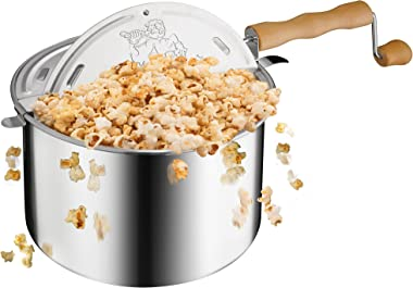 GREAT NORTHERN POPCORN COMPANY 83-DT5676 Stovetop Spinner, 6 Quart, Silver