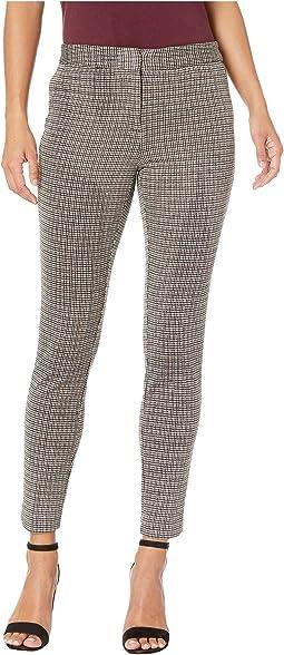 Petite Houndstooth Jacquard Slim Leg Pants
