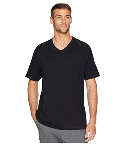 tasc Performance Carrollton V-Neck Tee (Black) Men