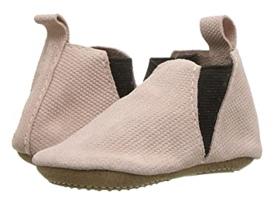 Freshly Picked Blush Knit Chelsea Boot Mini Sole (Infant/Toddler) (Pink/Brown) Girl
