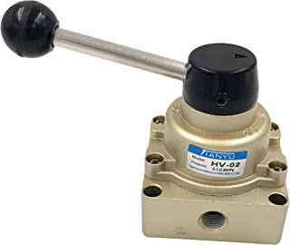 Jhe Rotary Hand Lever Valve Air Flow Control 3 Positions 4 Ways HV-02