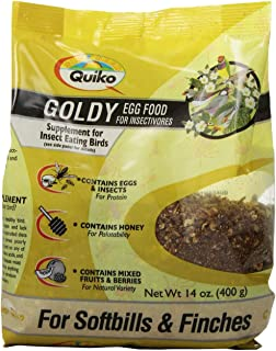Quiko Goldy Egg Food Supplement for Insect Eating Birds - Softbills & Finches, 14 Ounce Pouch