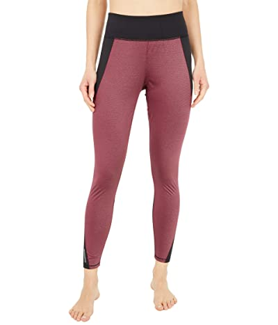 PUMA Studio Metallic High-Rise 7/8 Tights (Burgundy) Women