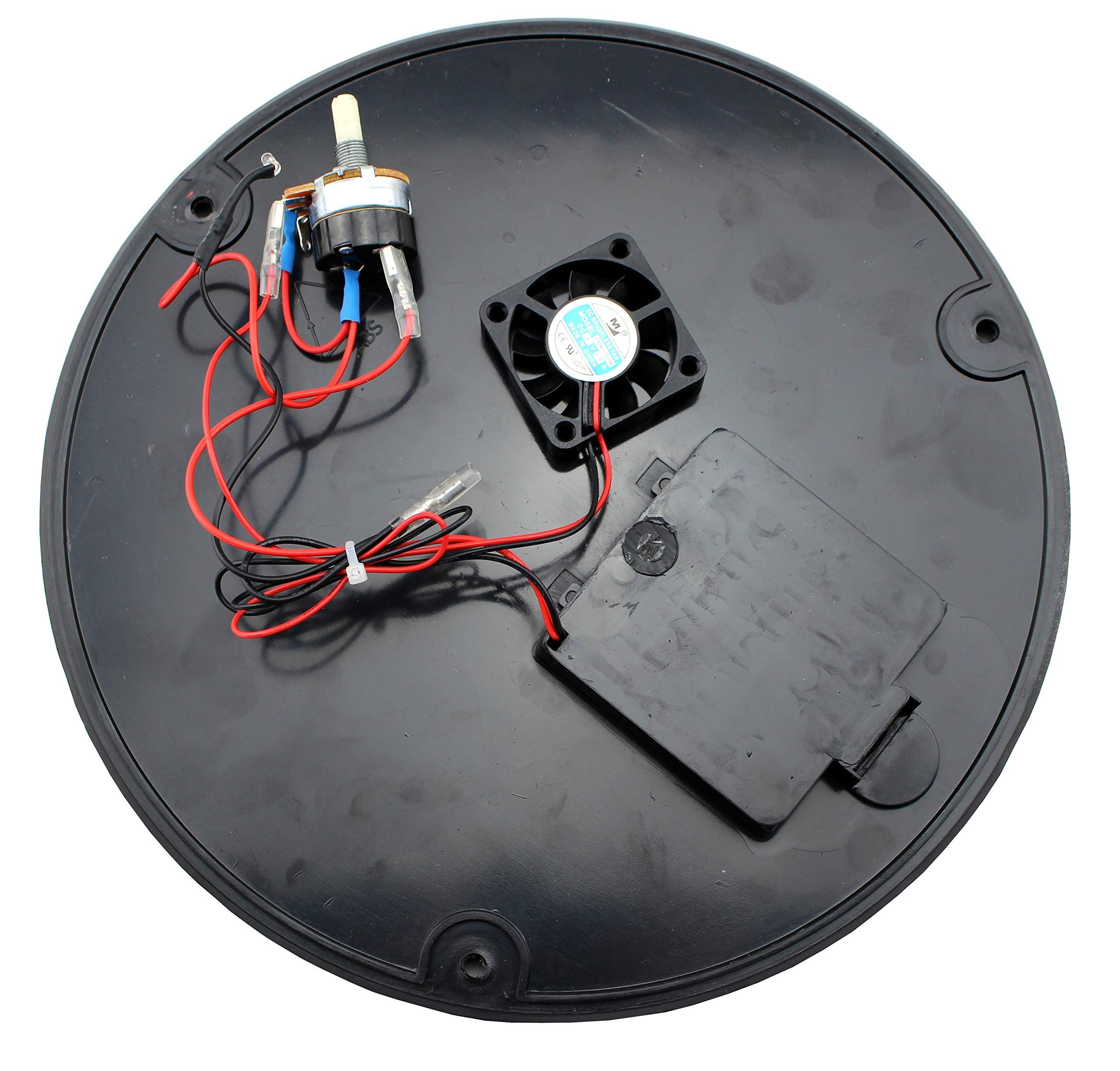 LotusGrill - Placa de suelo de repuesto con ventilador y unidad de ...