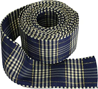 Brown,Scottish Plaid Ribbon,Houndstooth Ribbon, Choose Width by 4 meter.