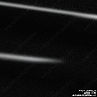 Avery SW900-192-M GLOSS BLACK METALLIC 5ft x 1ft (5 Sq/ft) Supreme Vinyl Car Wrap Film