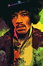 NLopezArt Jimi Hendrix Rock and Roll Woodstock Music Icon Pop Art Illustration #1 Poster Print (11x17 inches) (11x17 inches)