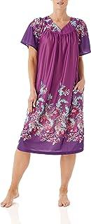 AmeriMark Women's Lounger House Dress - Short Sleeve Patio Dress w/ Side Pockets