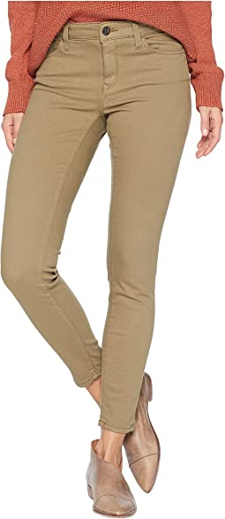 Adriana Ankle Mid-Rise Skinny in Dusky Green