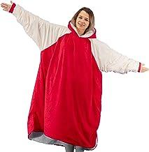 Winthome Bardzo duży koc z kapturem z podszewką Sherpa. Miękki i ciepły dla mężczyzn, kobiet, dorosłych, młodzieży