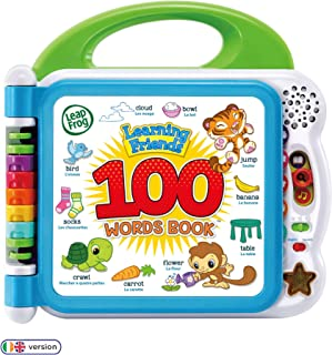 LeapFrog 601503 Learning Friends 100 Words Baby Book Educational and Interactive Bilingual Playbook Toy Toddler and Pre Sc...