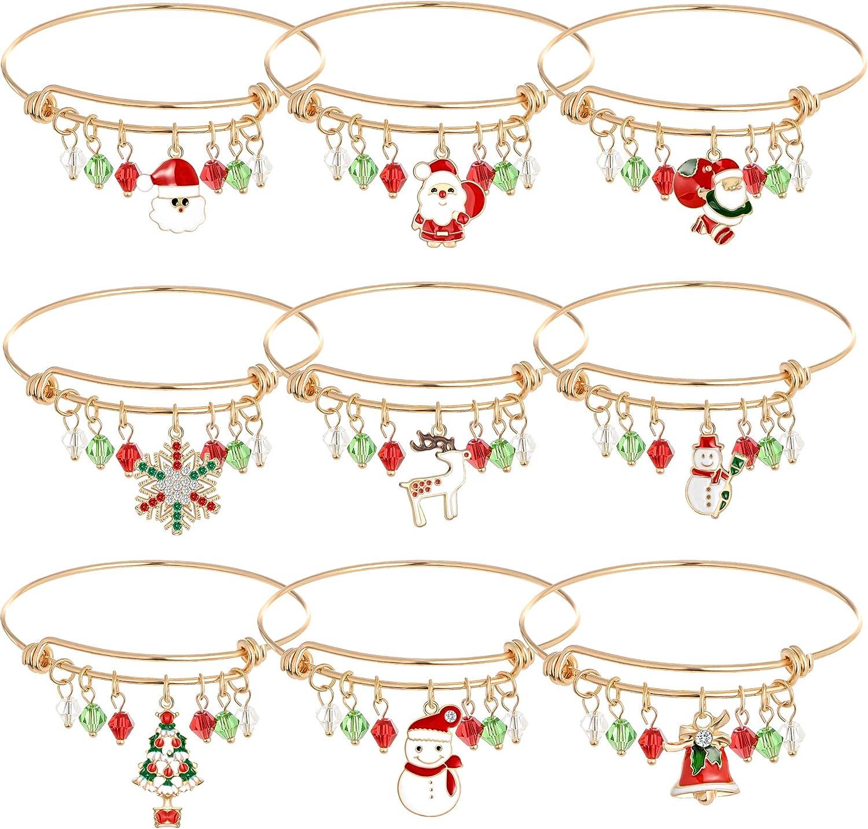 MMIRACULOUS GARDEN 9 Store Pcs Bracelet Expandable Christmas 35% OFF Charm