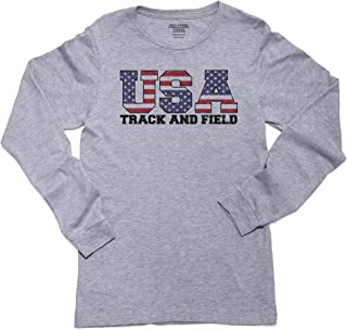 USA Olympics - Track & Field - Vintage Letters Long Sleeve Youth T-Shirt