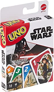 UNO Star Wars Matching Card Game Featuring 112 Cards with Unique Wild Card & Instructions for Players 7 Years Old & Up, Gi...
