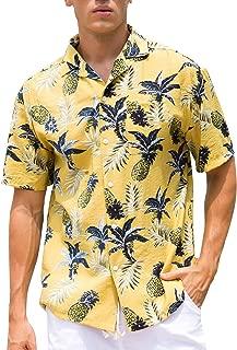 Men's Tropical Hawaiian Shirt Casual Button Down Short Sleeve Shirt