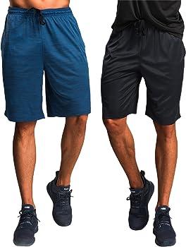 2 Pack CYZ Men's Performance Running Shorts